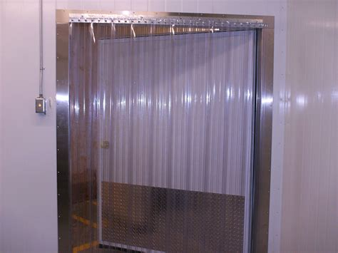freezer door curtains cooler and freezer strip doors strip curtains com
