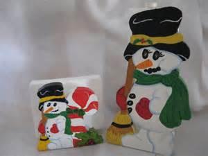 snowman paper towel holder snowman paper towel napkin holder set