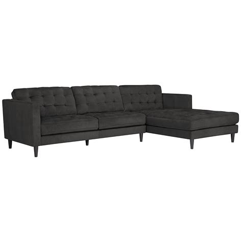 microfiber sectional sofas with chaise city furniture shae dark gray microfiber right chaise