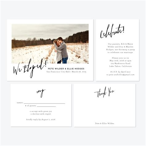 Wedding Announcement In Paper by Skipt Paper Co Fresh Designs For Elopement Announcements