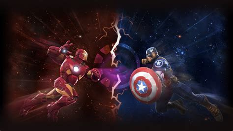 captain america vs wallpaper iron man vs captain america artwork wallpapers hd