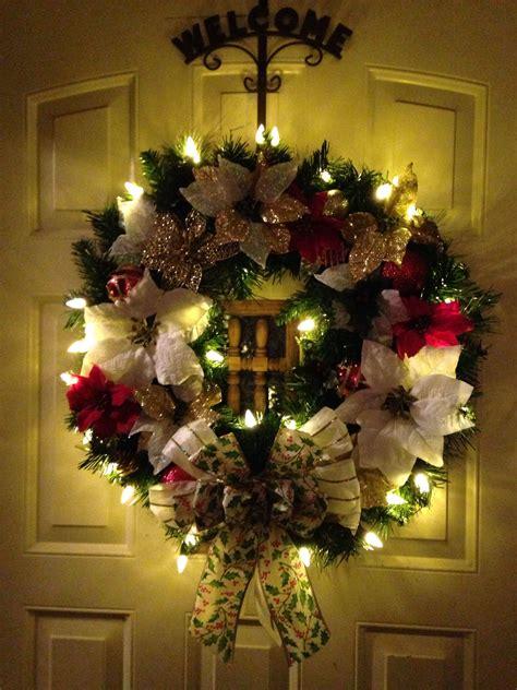 christmas wreath   front door beautiful