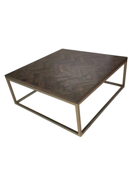 Herringbone Coffee Table 5 Square Brass Herringbone Coffee Table