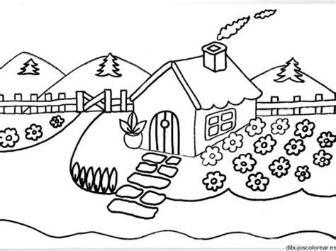 imagenes bonitas de paisajes para pintar dibujos de paisajes con casas bonitas para pintar
