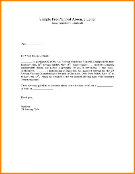 Formal Letter Format Absent Class 8 Excuse Letter Format Coaching Resume