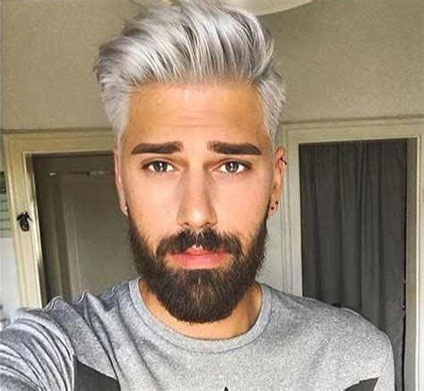 Grey Hair Color On Coolest Guys On Planet Mens | mens hair color mens hairstyles 2018 part 4