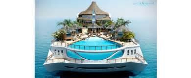 yacht island design le blog des tendances yacht island design releases tropical island paradise