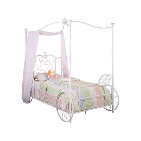 carriage twin bed powell furniture princess emily carriage twin metal canopy