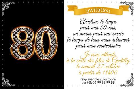invitation anniversaire 80 ans chiffres diamants 123 cartes