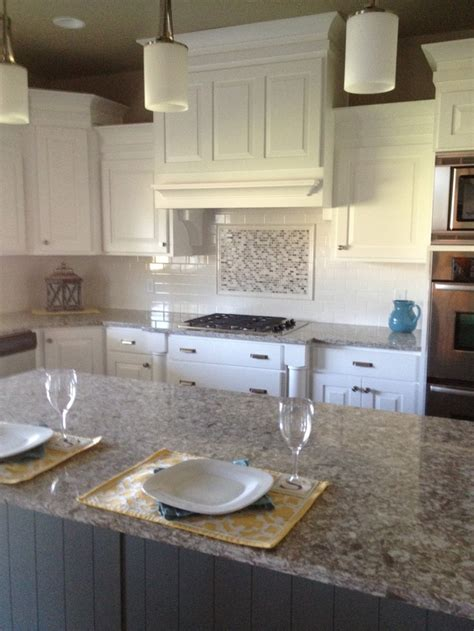 kitchen backsplash accent tile beautiful kitchen with white subway tiles as a backsplash with an accent above stove