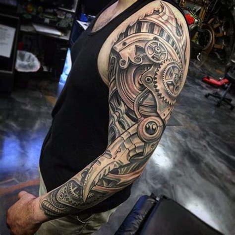 mechanical sleeve tattoo designs 50 tattoos for eccentric ink design ideas