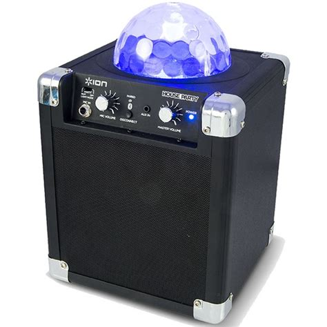 ion portable speaker system with party lights ion house party compact wireless speaker system with built