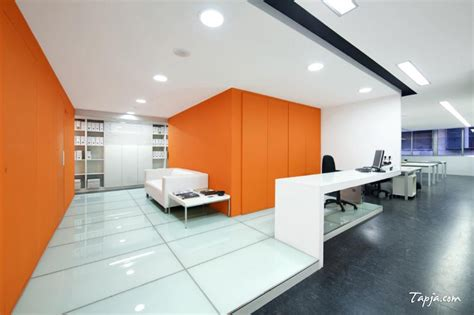 modern wall colors comfortable white orange wall colors for modern office