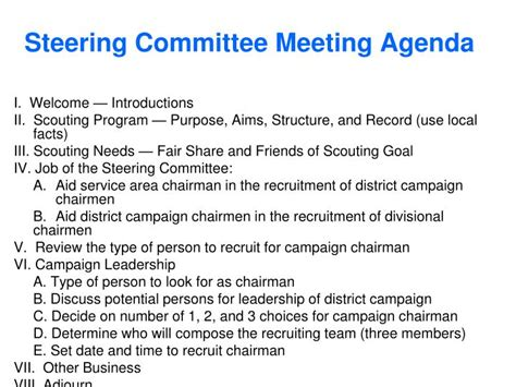 Steering Committee Presentation Exle Establish An Effective It Steering Committee Steering Committee Presentation Exle