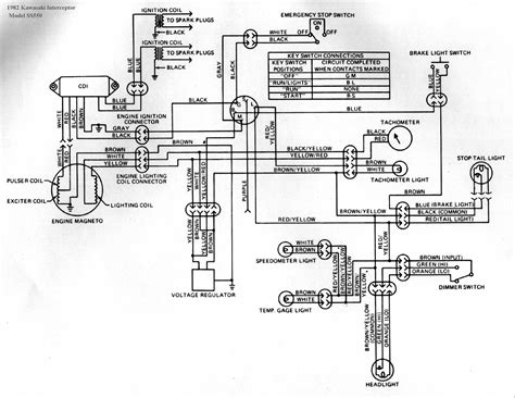 wiring diagram motorcycle 88 kawasaki 550 ltd wiring