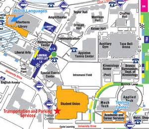 Boise State University Map by Placement Exams World Languages