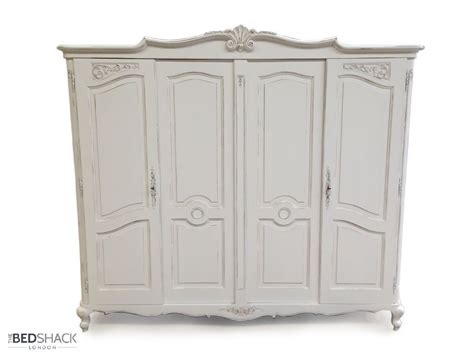 white shabby chic wardrobe white shabby chic 1950 s vintage oak 4 door