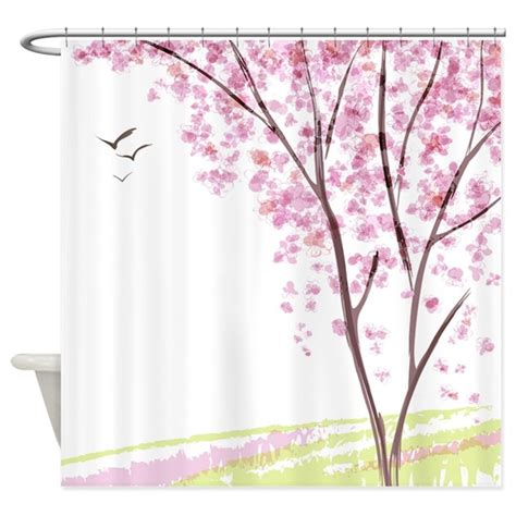 spring shower curtain tree in spring shower curtain by bestshowercurtains