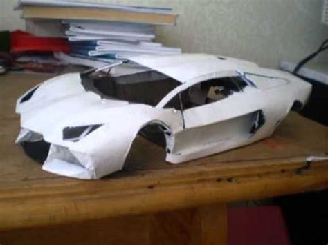 How To Make A Paper Lamborghini - lamborghini aventador paper model