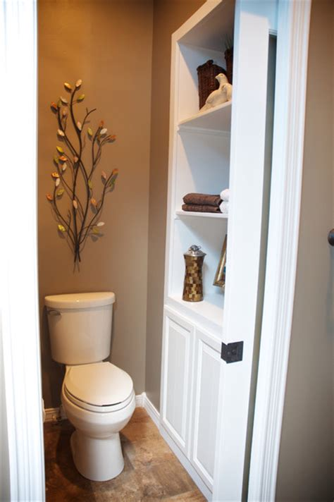 Toilet In Closet by Master Bathroom Closet Remodel Transitional Bathroom