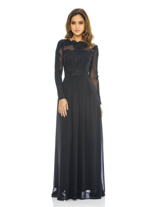 Longdress Maxy sleeved lace top maxi dress