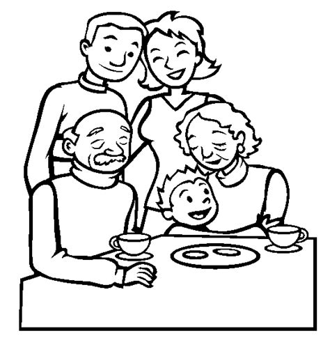 chinese family coloring page familie kleurplaat opa oma