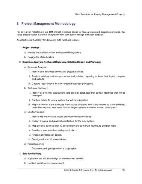 identity access management best practices best practices for identity management projects