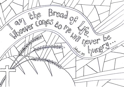 Sermon Outline Bread Of by Creative Children S Ministry I Am The Bread Of Reflective Colouring Sheet