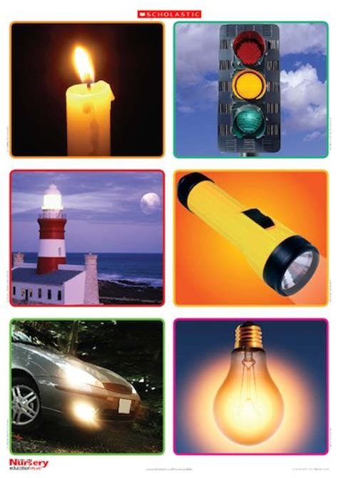 light sources poster early years teaching resource