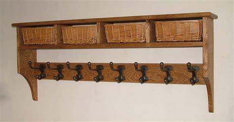 Coat Hooks With Shelf Above by Basket Shelves Shaker Peg Rails Country Shaker