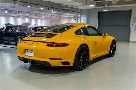 porsche signal yellow signal yellow 2017 porsche 911 carrera gts coupe german
