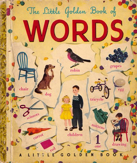 words and your books the golden book of words a illustrated gem