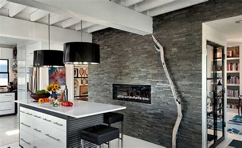 Beautiful Kitchen Backsplashes Natural Stacked Stone Veneer Fireplace Stack Stone