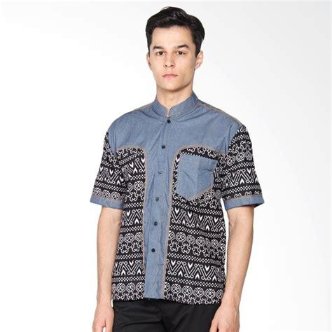 Kemeja Denim By Anataputri Batik jual jogja batik hem koko denim d kombinasi batik kemeja