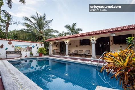 mexico house rental cozumel 4 bedroom in town house with pool island house