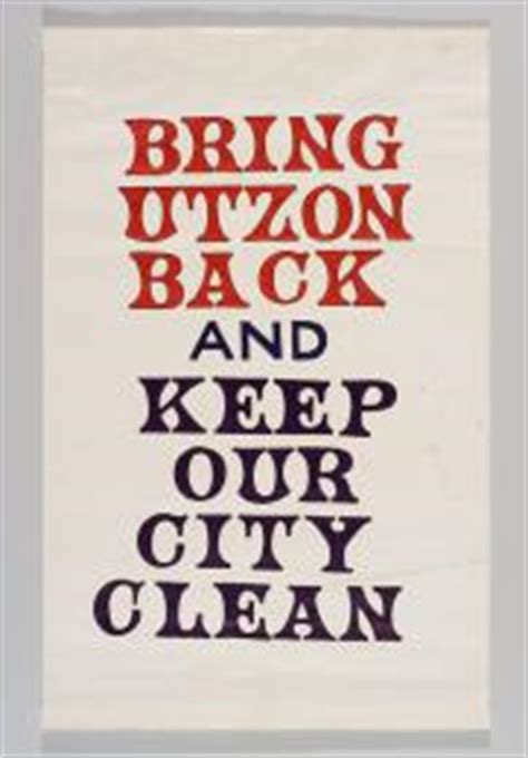 Keep Our City Clean Essay by 2007 39 2 Poster Bring Utzon Back And Keep Our City Clean Paper Designed By Bill Turner