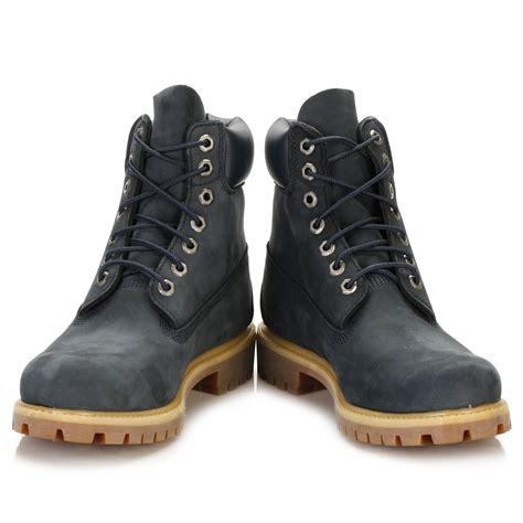 navy blue timberland boots mens timberland mens navy blue nubuck boots 6 inch waterproof