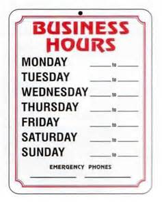 business hours template 4 best images of free printable business hours sign