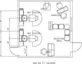 Floor Plan Of A Salon by Beauty Salon Floor Plan Design Layout 283 Square Foot