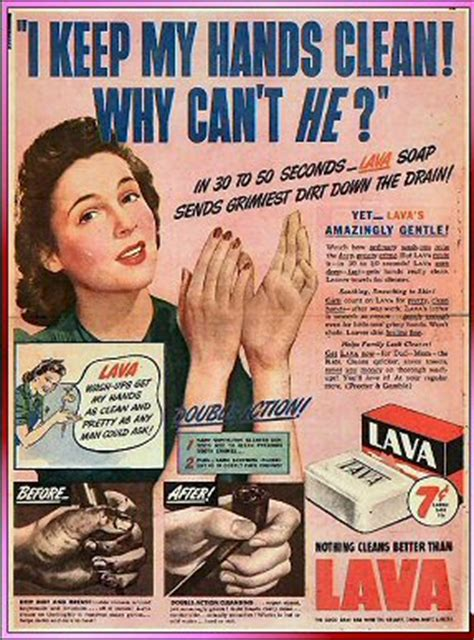 vintage tv commercials from the 1940s 50s 7 ads l a v a l a v a