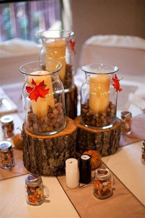 Centerpieces. Favors were small Mason jars filled with