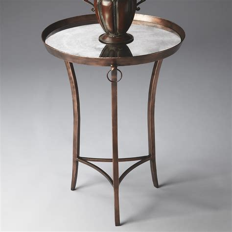 copper accent table butler copper accent table metalworks end tables at hayneedle