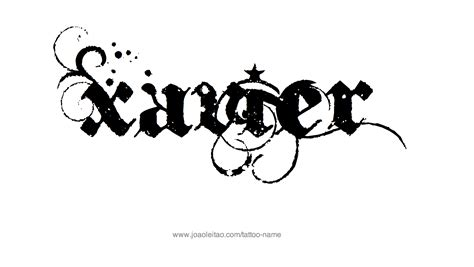 xavier name tattoo designs tattoo designs and tattoo