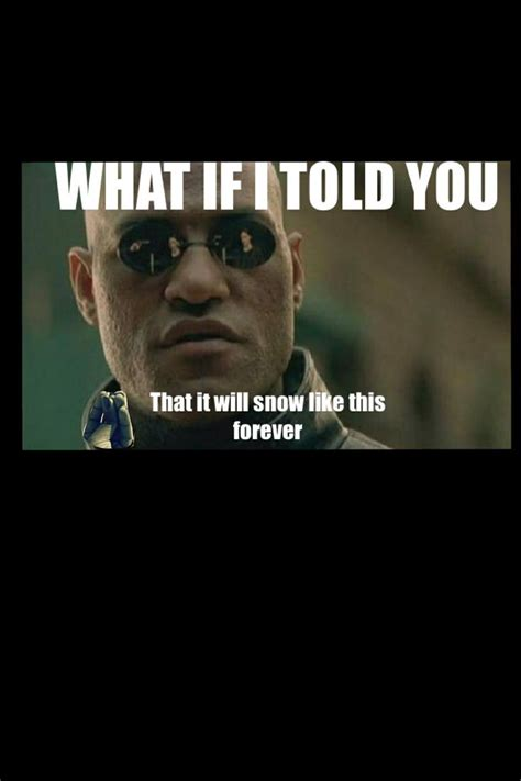 told  snow meme funny  morpheus matrix