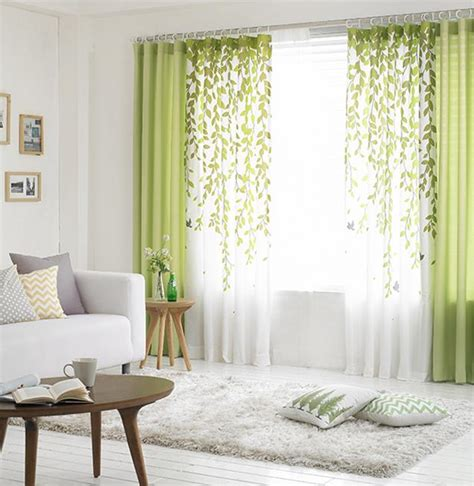 curtains to go with lime green walls curtain menzilperde net lime green and white leaf print poly cotton blend country