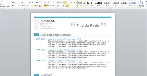 cv format word 2015 free download download free professional curriculum vitae format word