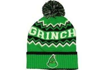 grinch name dr seuss grinch name pom embroidered beanie price comparison