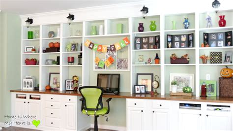 built in shelves and cabinets remodelaholic build a wall to wall built in desk and