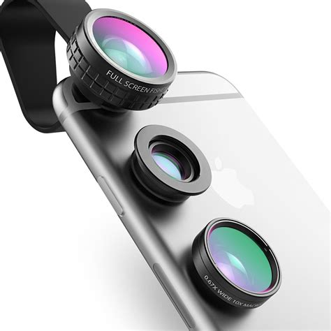Fish Lens by Aukey Fish Eye Lens 3in 1 Clip On Cell Phone 180