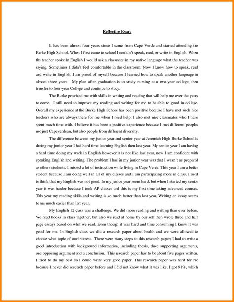 Exles Of Self Reflection Essay by 9 Personal Reflective Essay Exles Address Exle